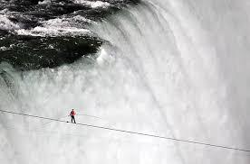 Nik Wallenda walks the Niagara Falls