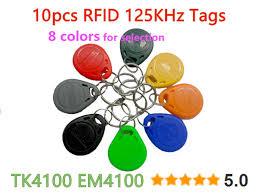 <b>10 pcs</b>/lot <b>125Khz RFID Tag</b> Proximity ID <b>Token Tag</b> Key Fob Plastic ...