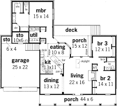 Southern Style House Plans   Plan   Main Floor Plan