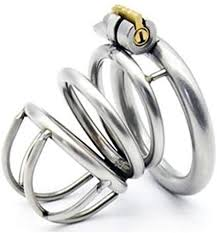 New lock <b>304</b> stainless steel <b>Male Cock Cage Chastity Device</b> SEX ...