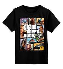Детская <b>футболка классическая</b> унисекс <b>GTA</b> 5 #641651 за 1 035 ...