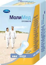 Урологические <b>прокладки</b> Hartmann <b>MoliMed Premium Midi</b> 14 штук