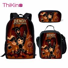 <b>Thikin Bendy and Ink</b> Machine 3Pcs/set Book Bags Children School ...