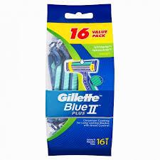 <b>Gillette Blue II</b> UltraGrip Pivot Disposable Shaving Razor 16 <b>Pack</b>