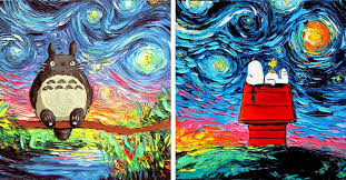 Pop Culture <b>Starry Night</b> Scenes Look Like <b>Cartoon</b> Van Gogh ...