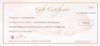 orange county christmas portrait photography gift certificates baby photography gift certificate