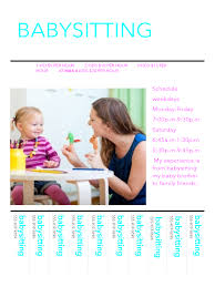 flyer templates templates in pdf word excel babysitting flyer example
