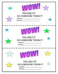 ideas about Homework Pass on Pinterest   No Homework  Late     Pinterest