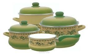 """<b>Набор эмалированной посуды</b> Metrot """"Оливки"""", 7 предметов ..."""