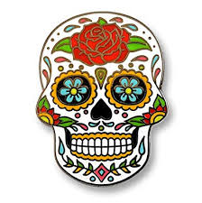 Pinsanity Day of The Dead Sugar <b>Skull</b> Enamel <b>Lapel Pin</b>