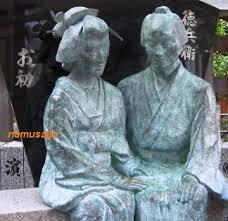 「1703 竹本座で近松門左衛門作の人形浄瑠璃『曽根崎心中』」の画像検索結果