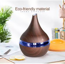 KBAYBO <b>300ml USB Electric Aroma</b> air diffuser wood Ultrasonic air ...