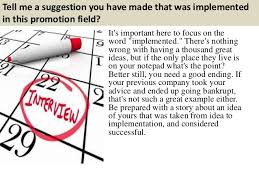 top promotion interview questions  answers