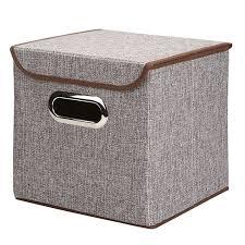 Generic <b>Non-Woven Foldable Storage Box</b> Cube <b>Basket Bin</b> With ...