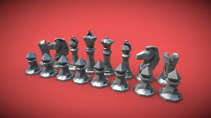Faceted <b>Chess Set</b> for 3D <b>Printing</b> - Buy Royalty Free 3D model by ...