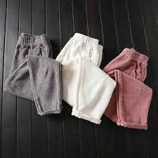 <b>Autumn Winter</b> Corduroy Pants Women <b>Plus Size</b> 3XL Elastic Waist ...
