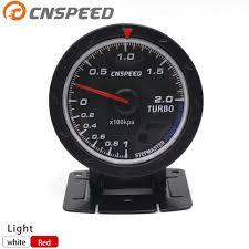 <b>Free Shipping CNSPEED 60MM</b> Car Turbo Boost gauge Red ...