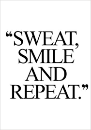 Buy <b>Sweat</b>, <b>Smile and Repeat</b>: Fitness Journal, Personal Training ...