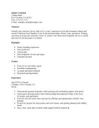 free server  waiter waitress  resume template   examples   ms wordrestaurant server resume template