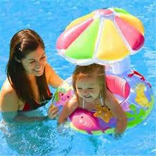 Baby Kids Swim Ring <b>Inflatable</b> Toddler Float Swimming Pool Water ...
