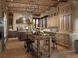 countertops dark wood kitchen islands table: kitchen flush with natural and painted wood tones raw wood dining table stands in front