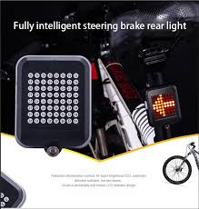 <b>Fully intelligent steering brake</b> taillight USB charging bicycle lamp ...