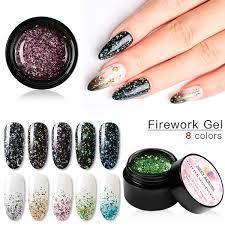 <b>MEET ACROSS Fireworks Nail</b> Gel Polish Glitter Shiny Gellak ...