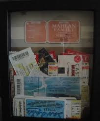 simply sarah diy project ticket stub holder i went to michael s and picked up a 3 pack of 8x10 shadow boxes for 10 they were 50% off using stock paper i lined the back of the box but was