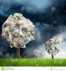 <b>Money Tree</b> On Green <b>Landscape</b> Stock Image - Image of ...
