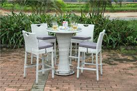 outdoor rattan garden wicker bar table set china outdoor rattan garden