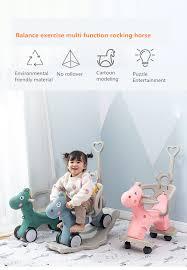Children's <b>music Rocking</b> Horse Plastic <b>rocking</b> horse cart baby ...
