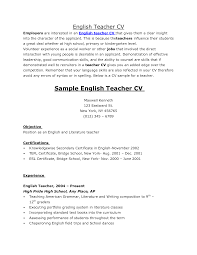 cover letter spanish teacher sample