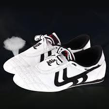 White <b>Taekwondo</b> Shoes <b>Breathable Wear resistant</b> Training ...