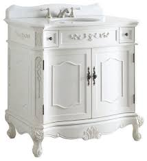 traditional style antique white bathroom: fairmont sink vanity white without mirror quot traditional bathroom vanities