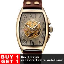 Skeleton <b>Mechanical Watch Automatic Watch Men Steampunk</b> ...