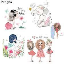 <b>Prajna</b> Fashion Beauty <b>Girl</b> Unicorn <b>Heat Transfers</b> Ironing Stickers ...