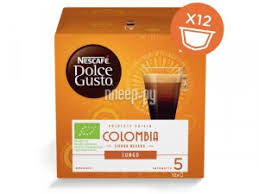 <b>Капсулы Nescafe Lungo Colombia</b> 12шт стандарта Dolce Gusto ...