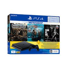 <b>Игровая консоль Sony PlayStation</b> 4 1Tb + Days Gone, God of War ...