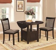 three piece dining set: coaster   stockton  pc dining table chair set in charcoal main image