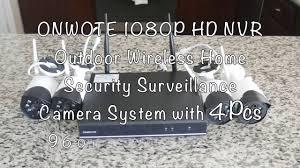 Unboxing And Setup of ONWOTE 4CH <b>1080P</b> Wireless <b>NVR HD</b> ...