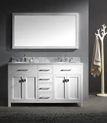 bathroom vanity 60 inch: caroline  inch double sink bathroom vanity in white by virtu usa