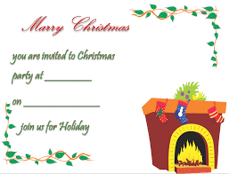 christmas party invitation template amp printable  printable christmas party invitation template