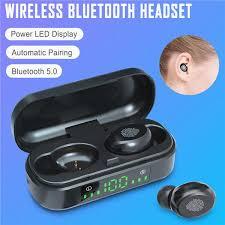<b>V8</b> TWS <b>Touch</b> Control <b>Bluetooth</b> 5.0 Headphones LED Electricity ...