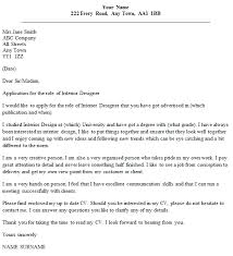 interior designer cover letter example cover letter interior designer