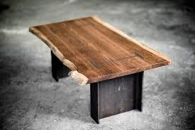 oak dining table beam handmade
