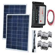 Kit Solaire <b>200w 24v Solar Panel</b> 18v 100w 12v/24v Solar Battery ...