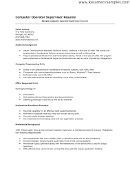 resume format for computer operator  awesome resume format for computer operator 36 for your seasonal colouring pages resume format for