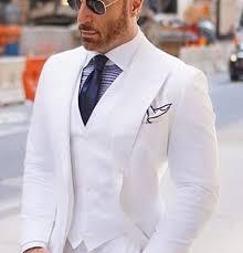 Wide Peaked Lapel <b>Men Suits</b> for <b>Wedding</b> Tuxedos 2018 <b>White</b> ...