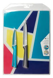 <b>Набор ножей</b> APOLLO Rainbow голубой/серый, <b>2 предмета</b>, с ...