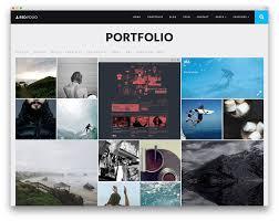 awesome wordpress portfolio themes to showcase your work  red folio grid portfolio